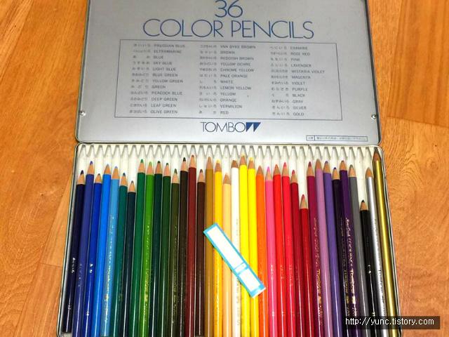 톰보우 유성색연필 36색