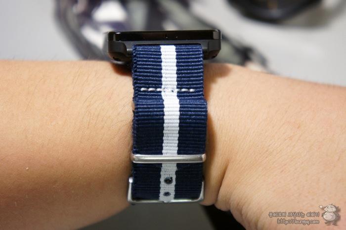 g watch, G워치, 시계줄, 교체, 나토밴드, 블루화이트