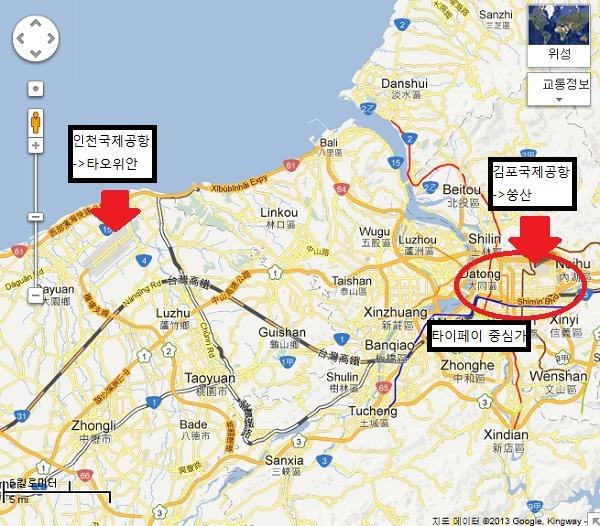 타이페이로 가는 편하고 저렴하고 빠른 방법, 김포-송산(타이페이) 노선
