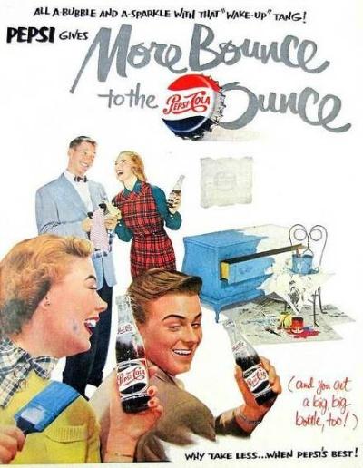 pepsi ads 1951 history