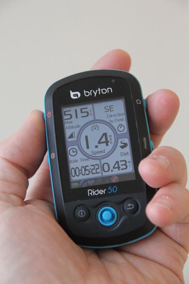 첫 모델인 Bryton Rider 50
