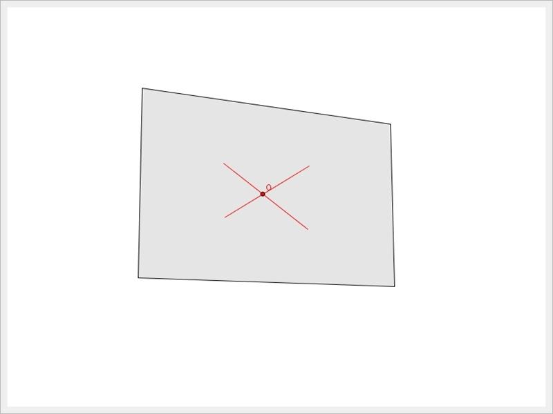 지오지브라 | 사각형의 무게중심