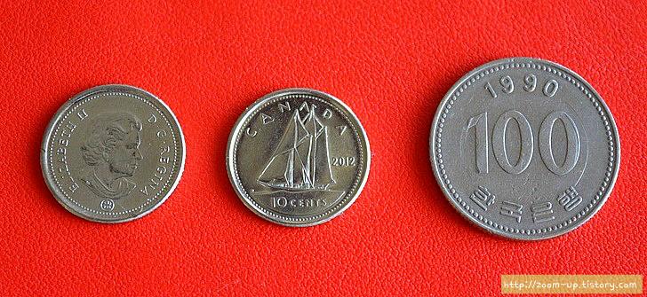 캐나다 역사와 동전 이야기 : 10센트 다임