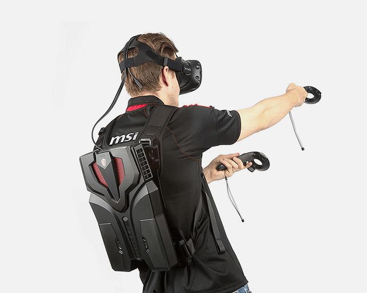 등에 매는 백팩형 고성능 게이밍 PC! MSI VR ONE 발표!