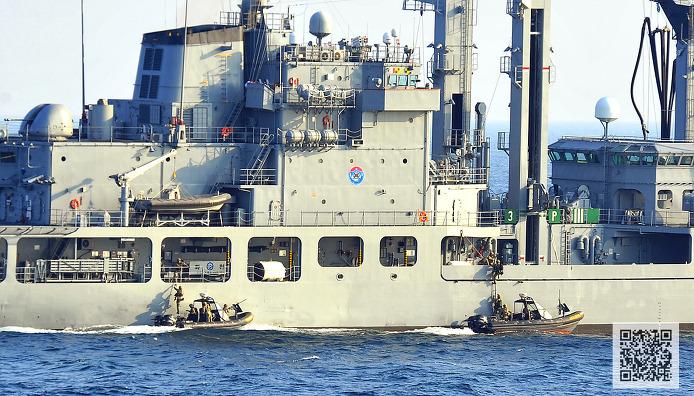 '아덴만 여명작전' 고속단정에서 선박으로 침투중인 UDT  ⓒMediaPaPaer.KR 오세진 사진기자