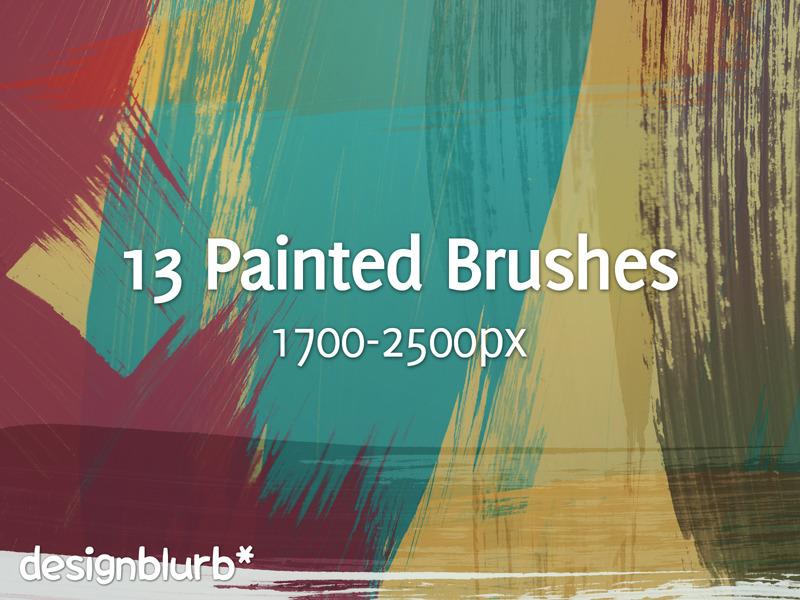 13 가지 무료 포토샵 페인트 붓 브러쉬 - 13 Free Photoshop Painted Brushes