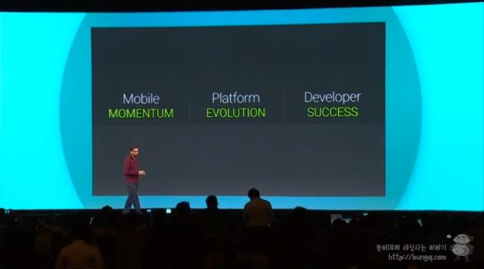 구글 I/O <1> 모바일 모멘텀, 안드로이드 L과 안드로이드 원의 이미