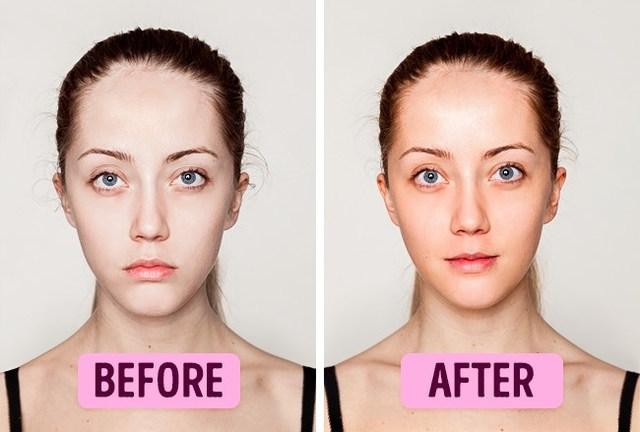 창백한 얼굴 생기있는 피부로