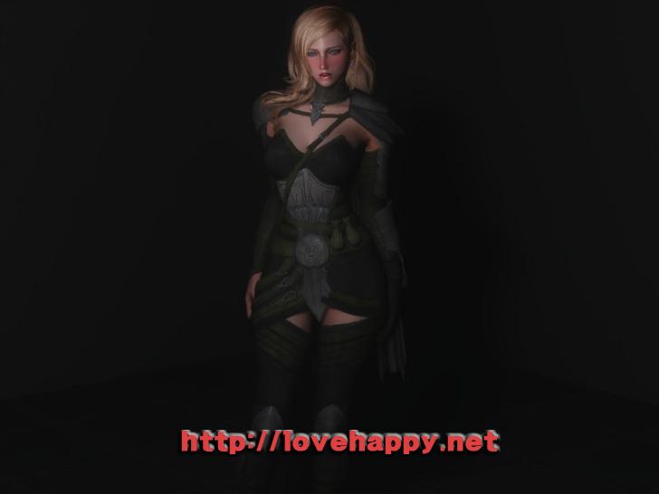 스카이림 의상 - 갑옷 의상 eso altmer armor cbbe skyrim mod 002