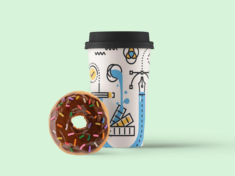 무료 종이컵/커피컵 목업 PSD - Free Paper Coffee Cup Mockup PSD