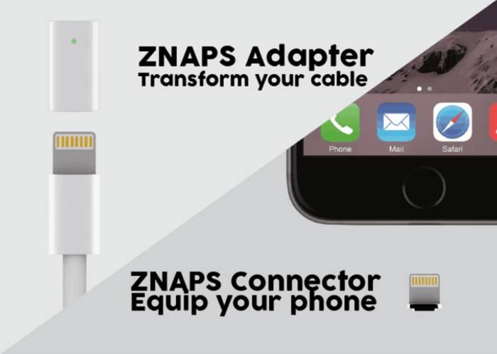 즈냅스(ZNAPS), 아이폰 라이트닝 케이블을 맥세이프처럼 사용한다?