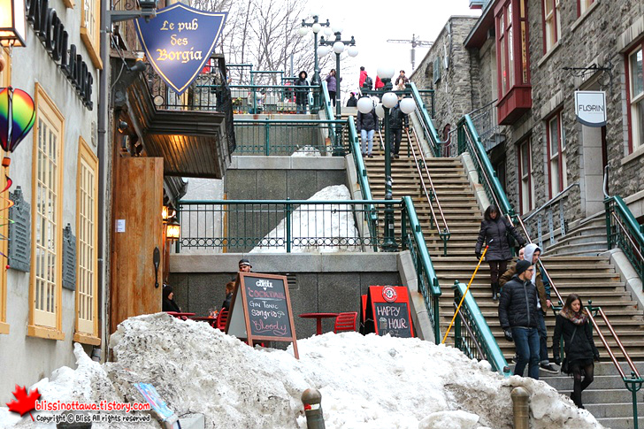 퀘벡시티 목 부러지는 계단