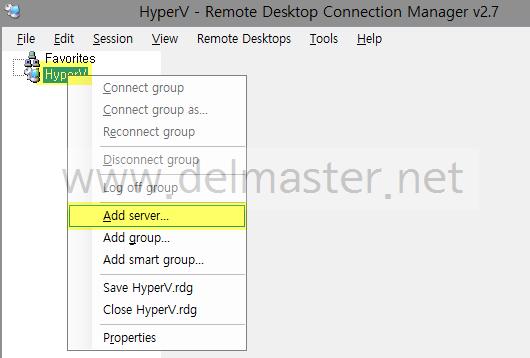 Remote Desktop Connection Manager 2.7