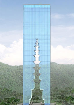 이타미 준 타워 디자인