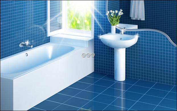욕실 타일 청소 방법, 곰팡이 물때 완전 깨끗이 - 개이득