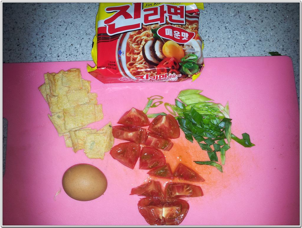 진라면-토마토-계란-맛의실험