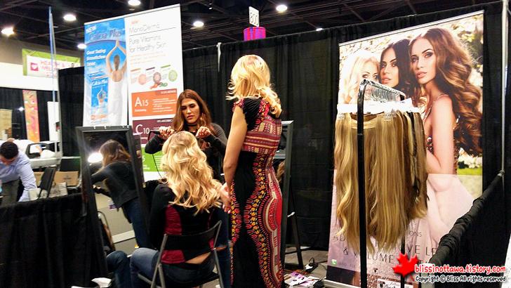 캐나다 최대 규모 '전국 여성 박람회' 헤어 연장 시술 붙임 머리