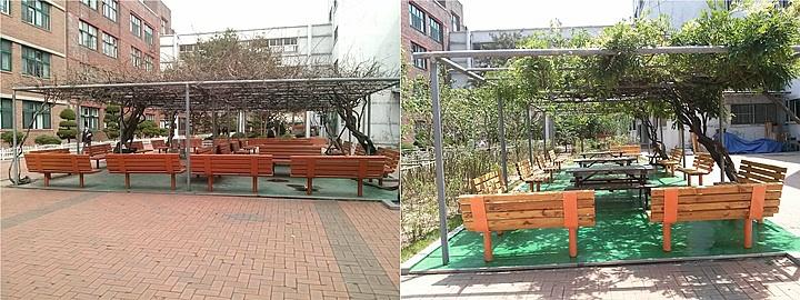 덕수고등학교 등나무 휴식터