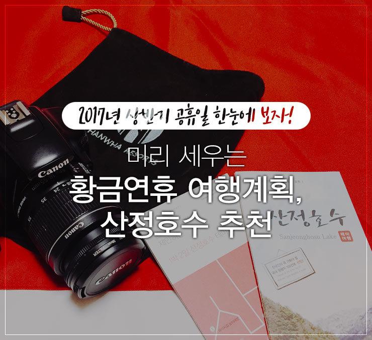 2017 공휴일 달력 황금연휴