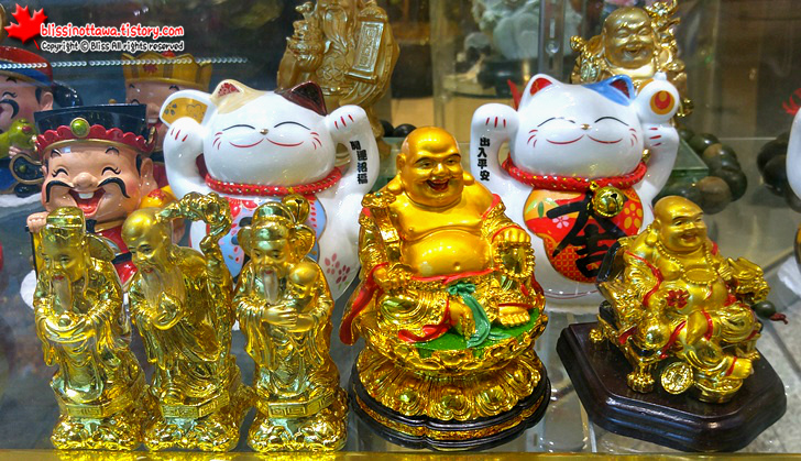 캐나다 토론토 차이나타운 미륵 부처 중국 기념품