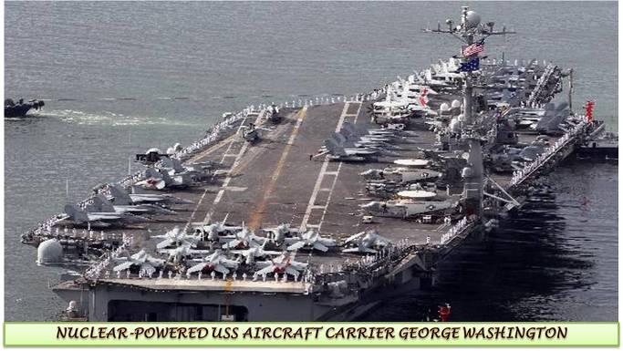 미국 핵항공모함 조지워싱턴호의 최첨단항공기 슈퍼호넷(F/A-18E/F)