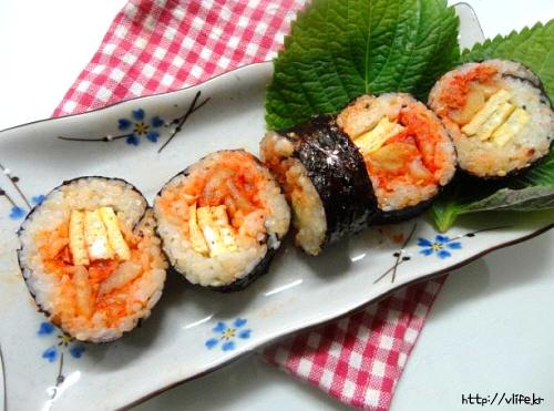 김치김밥 만들기