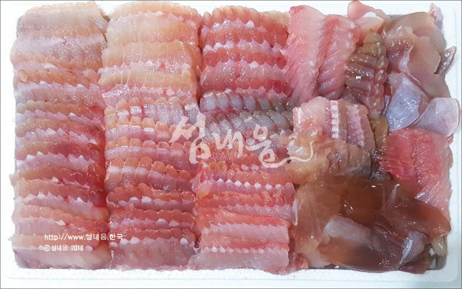 국산 홍어(애 포함+초장+기름장)