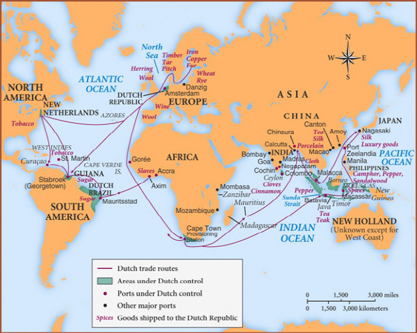 Dutch Trade Routes 17th Century