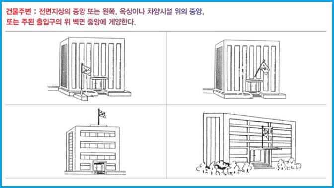 건물주변 국기 게양하는 방법