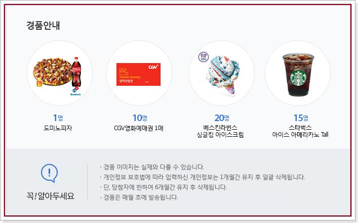 정책브리핑 220회 정책퀴즈 경품안내