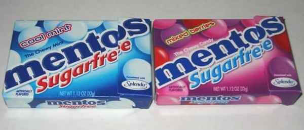 무설탕 캔디(sugar free mentos)