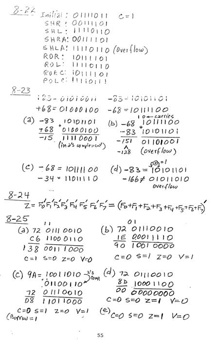 컴퓨터구조 연습문제, 모리스 마노 챕터8 55