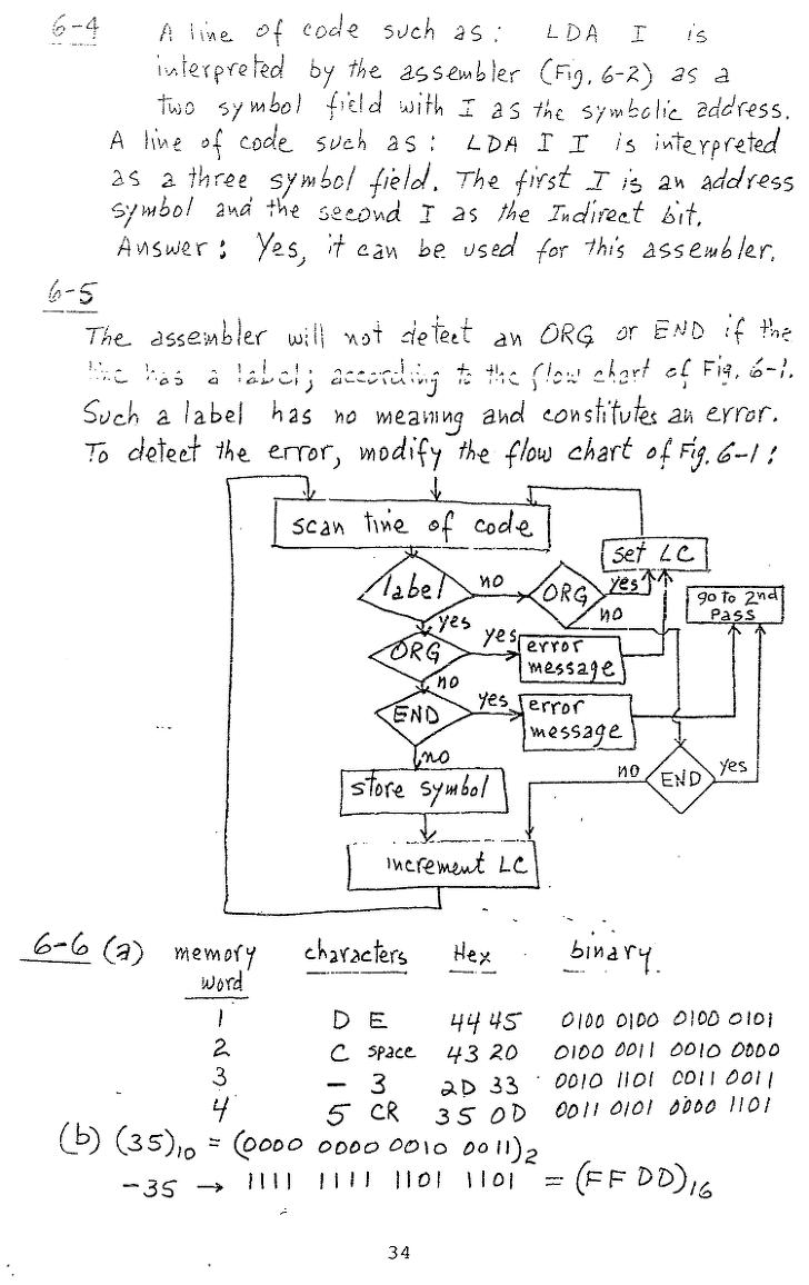 컴퓨터구조 연습문제, 모리스 마노 챕터6 34