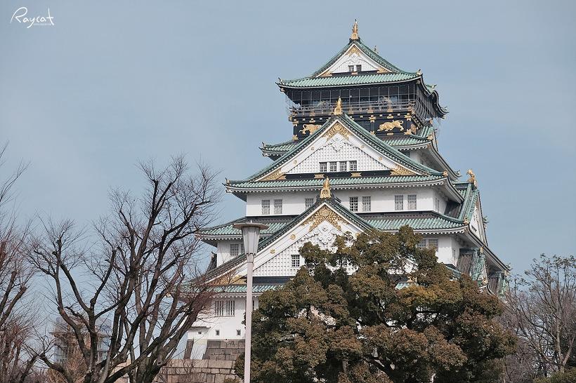 일본 3대성 오사카성 천수각에서 보는 오사카 전망