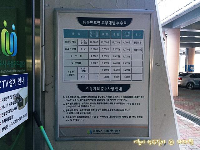 차량번호판 교체 비용