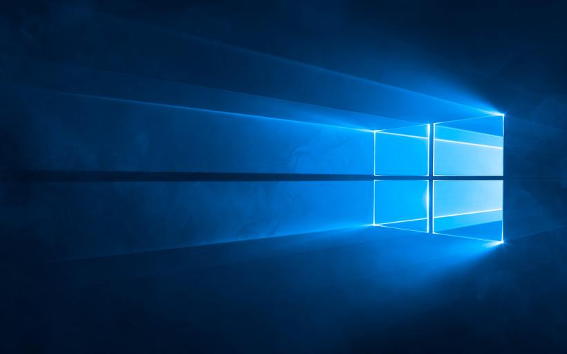 사진: 원래의 윈도우10 기본 배경화면 이미지.