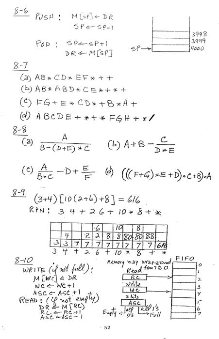 컴퓨터구조 연습문제, 모리스 마노 챕터8 52