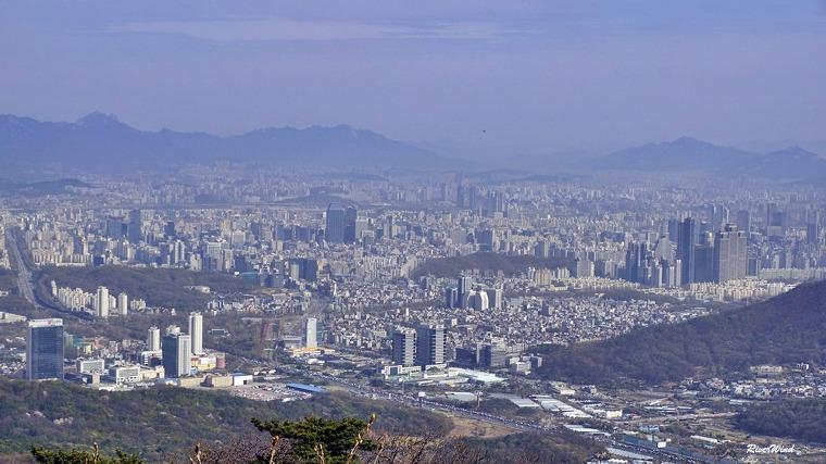 청계산 서울전경