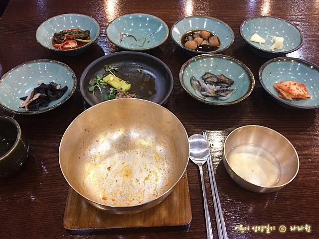 전주 한국관 놋그릇 육회 비빔밥