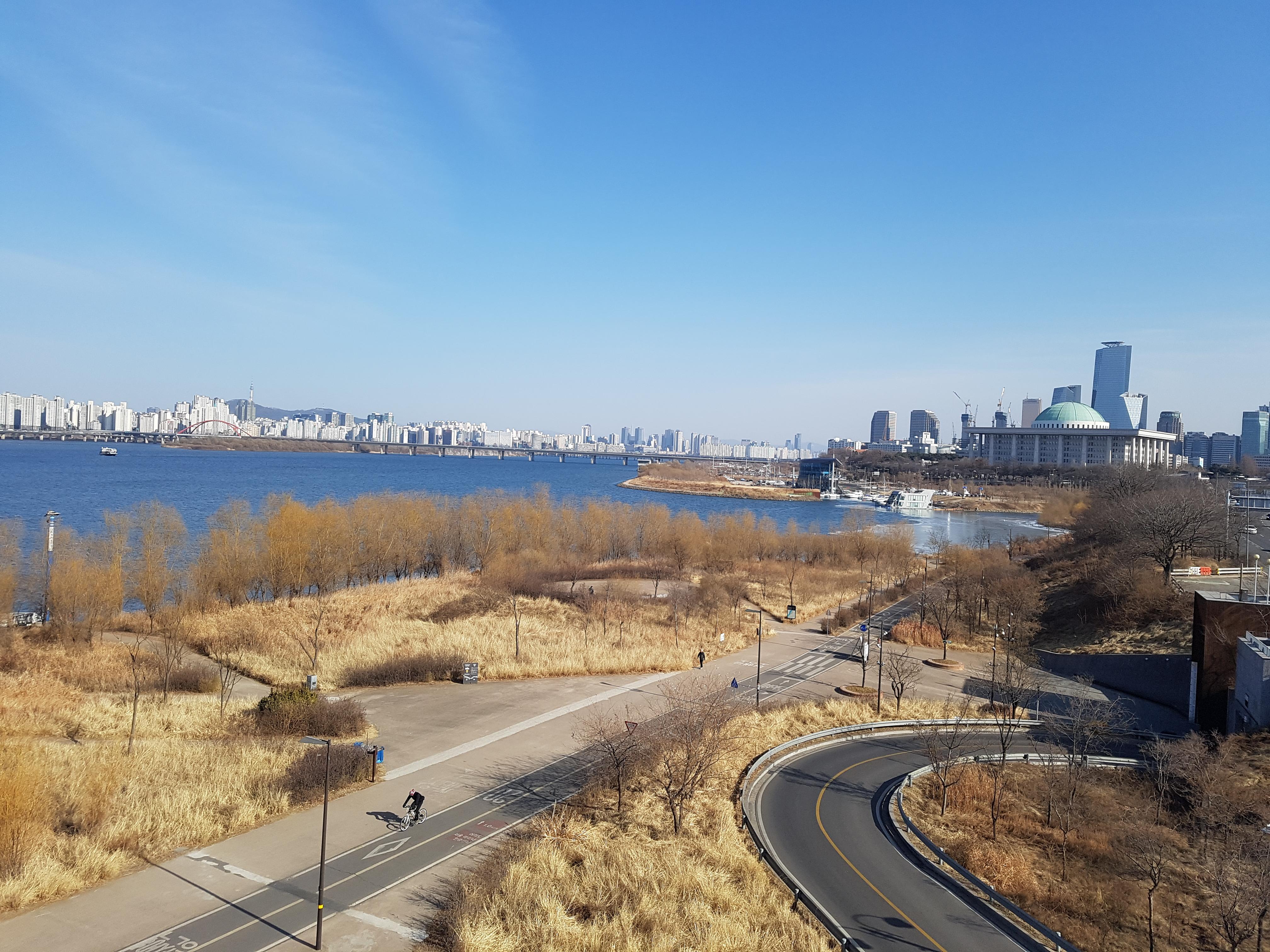 맑고 맑은 날, 한강 산책 - 겨울 마른 풍경