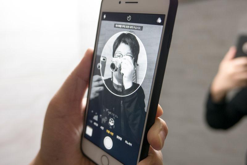 아이폰8 플러스. 새로운 인물 사진 모드 써보니