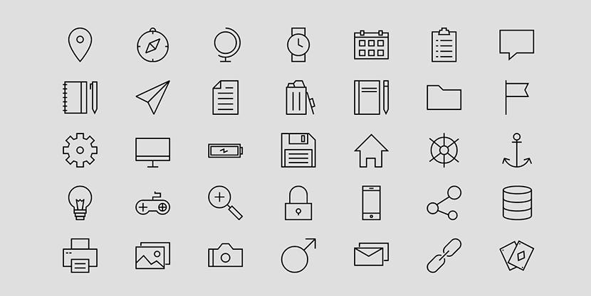 웹 개발자를 위한 9가지 무료 아이콘 팩 모음