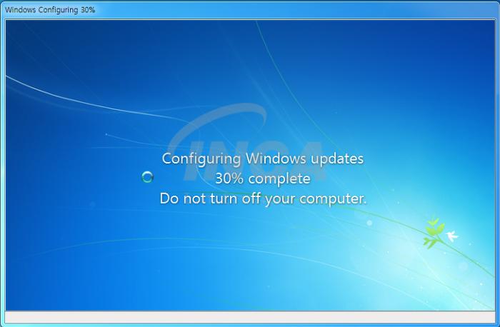 [그림 1] 사용자를 속이는 윈도우 업데이트 진행 화면